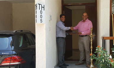 Handover to Mr. Nishant Gurjer - TH05
