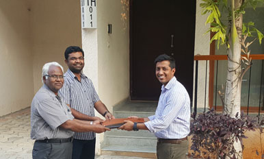 Handover to Mr. Pavan Kulkarni - TH11
