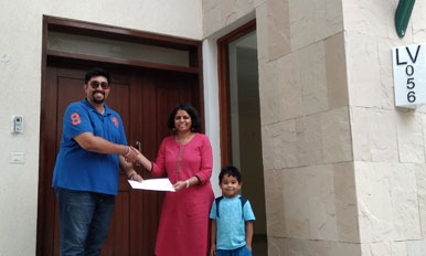Handover to Mrs. Ramachandra - LV56